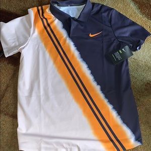 New Nike Dri-Fit Striped Polo Shirt Chicago Bears